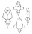 set of space ship vector image