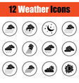 Set of weather icons vector image vector image