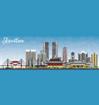 shantou china skyline with gray buildings and vector image vector image