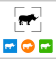 Simple icon silhouette of a rhinoceros vector image