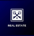simple luxury crossed key for house estate vector image