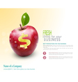 Template for business Apple vector image