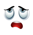 Tired emoticon sign vector image vector image