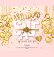valentines day sale banner design with hanging 3d vector image vector image