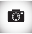 wedding photography icon on white background for vector image vector image