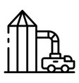 wheat elevator icon outline style vector image vector image