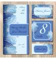 Winter frozen glass card design Printable vector image