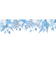 winter natural border frame vector image vector image