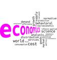 word cloud economics vector image