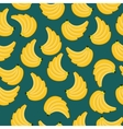 Yellow bananas branches seamless pattern vector image vector image