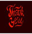 thank you script hand vector image
