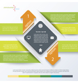 Green business concept design with arrows vector image