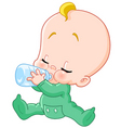 baby with bottle vector image