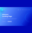 abstract geometric circle line shape landing page vector image vector image