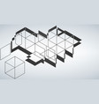 abstract geometric shape from gray diagonal romb vector image