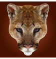Abstract Low Poly Puma Design vector image vector image