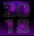 abstract polygonal numbers for new year 2018 vector image