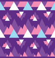 abstract purple mountains triangles print pattern vector image vector image