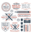 Back to school badges set vector image