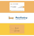 beautiful bed logo and business card vertical vector image