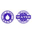 best in earth water grunge stamp seals vector image vector image