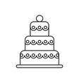 big wedding cake line icon sign vector image vector image