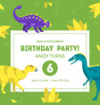 birthday party invitation card template banner vector image vector image