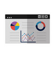 business chart report vector image vector image