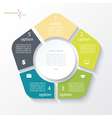Business concept design with circle and 5 segments vector image