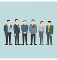 Business men team Concept of Group People vector image