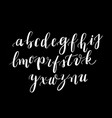 calligraphy hand-written fonts handwritten brush vector image