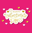 calligraphy lettering of happy valentines day in vector image
