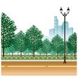 City Park Path Scene