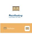 creative cupboard logo design flat color logo vector image vector image