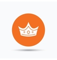 Crown icon Royal throne leader sign vector image vector image