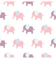 cute elephant cartoon pattern vector image