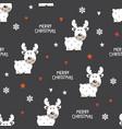 cute reindeer seamless pattern vector image vector image