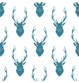 deer silhouette seamless pattern vector image