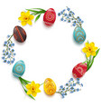 easter round concept vector image vector image