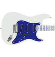 electric guitar in blue vector image vector image