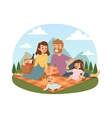 Family picnicking summer vector image vector image