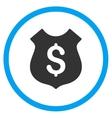 Financial Shield Icon vector image vector image