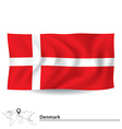 Flag of Denmark vector image vector image
