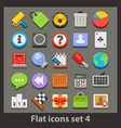 flat icon-set 4 vector image vector image