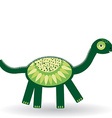 Funny dinosaur on white background vector image vector image