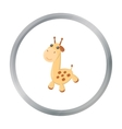 Giraffe cartoon icon for web and vector image