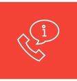 Handset with information sign line icon vector image vector image