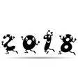 happy 2018 cartoon style vector image vector image