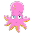 happy cartoon octopus vector image vector image