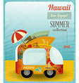 hawaii card bus vector image vector image